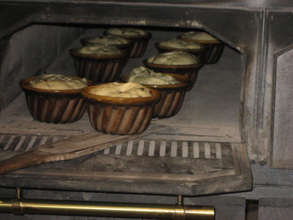 石窯のパン作り